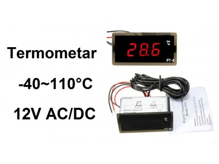 Digitalni termometar sa sondom -40-110°C - 12V