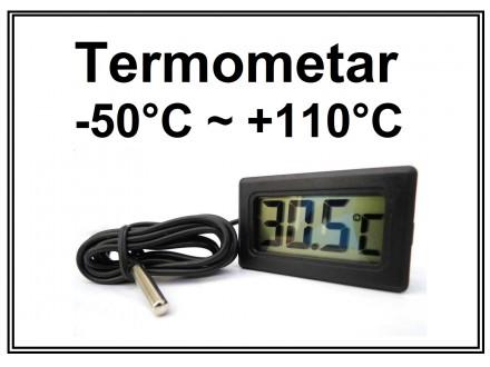 Digitalni termometar sa sondom -50°C do +110°C