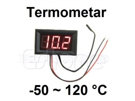 Digitalni termometar sa sondom -50-120°C - LED crveni