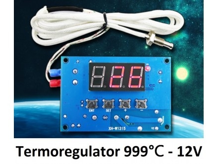 Digitalni termostat -30 do +999 °C - termoregulator