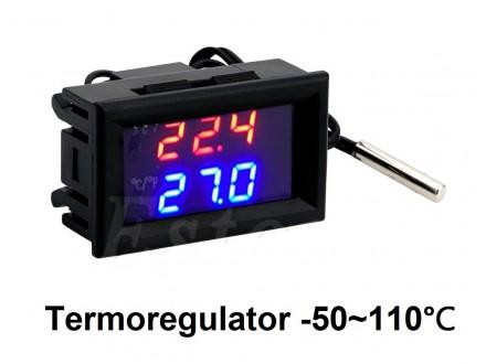 Digitalni termostat -50 do +110 °C - termoregulator 12V