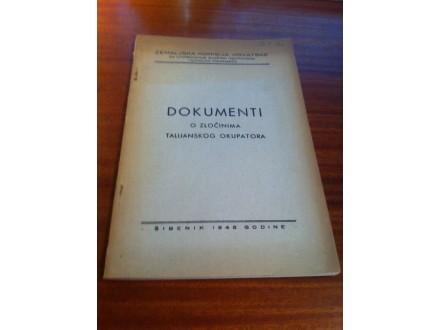 Dokumenti o zločinima talijanskog okupatora