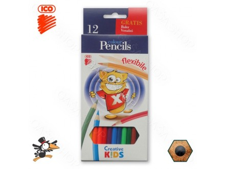 Drvene bojice Ico Creative Kids flexibile 1/12 - Novo