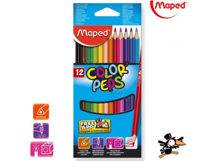 Drvene bojice Maped Color Peps 1/12 183212 - Novo