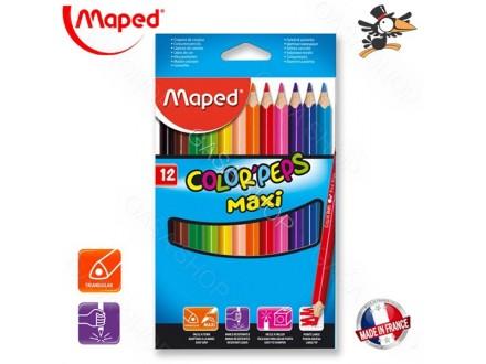 Drvene bojice Maped Color Peps 1/12 maxi 834010 - Novo