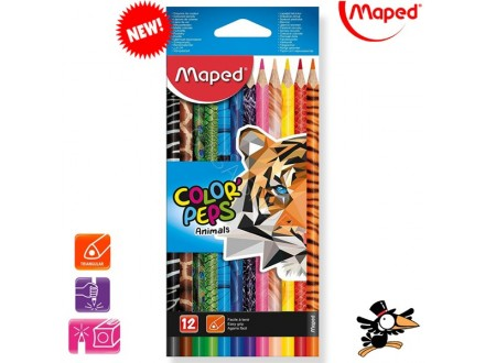 Drvene bojice Maped Color Peps animals 1/12 832212