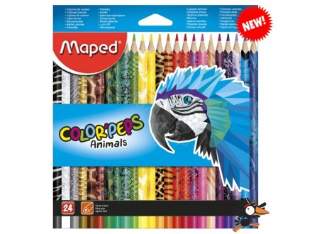 Drvene bojice Maped Color Peps animals 1/24 832224