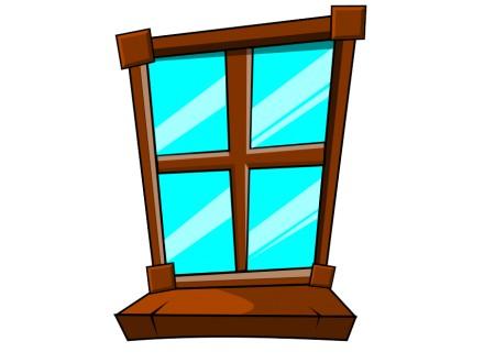 Drveni prozori četvorokrilni - 2 kom