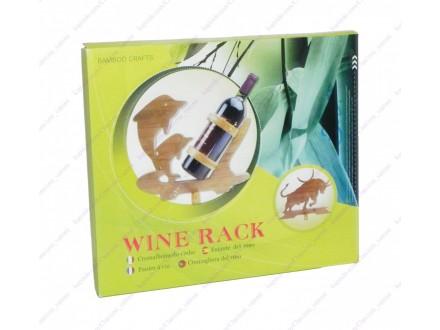 Drveni stalak za vino + BESPL DOST. ZA 3 ART.