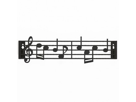 Držač za ključeve - Music black