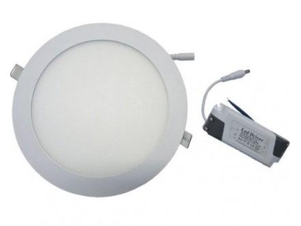 EL-LP012 Ugradni LED panel 6000K 12W Bela, okrugla