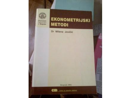 Ekonometrijski metodi - dr Milena Jovičić