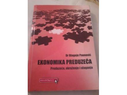 Ekonomika preduzeća - dr Blagoje Paunović