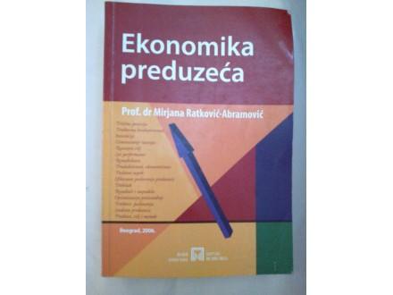 Ekonomika preduzeća - dr Mirjana Ratković-Abramović