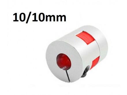Elasticna spojnica za motor - 10/10 mm - Ojacana