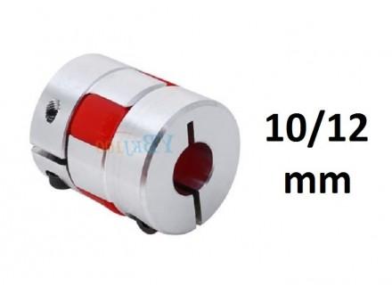 Elasticna spojnica za motor - 10/12 mm - Ojacana