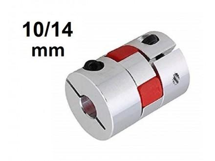 Elasticna spojnica za motor - 10/14 mm - Ojacana