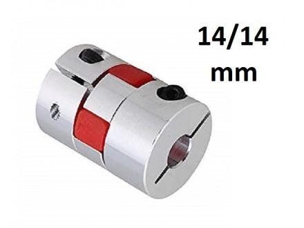 Elasticna spojnica za motor - 14/14 mm - Ojacana