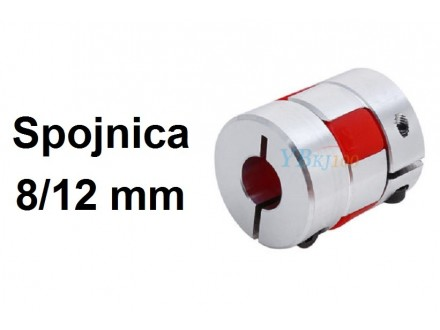 Elasticna spojnica za motor - 8/12 mm - Ojacana