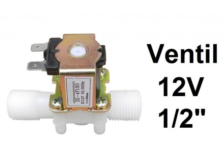 Elektromagnetni ventil - 8 bar - 12 V - 1/2 cola - NC