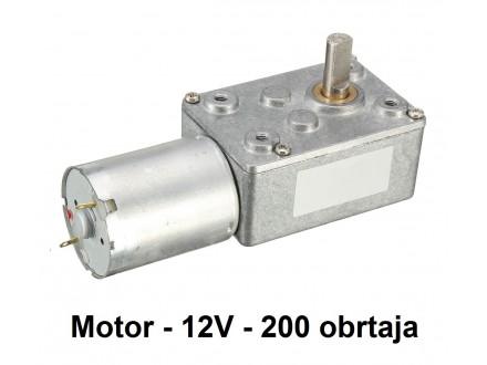 Elektromotor sa reduktorom - 12V - 200RPM