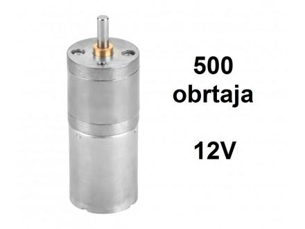 Elektromotor sa reduktorom - 12V - 500RPM