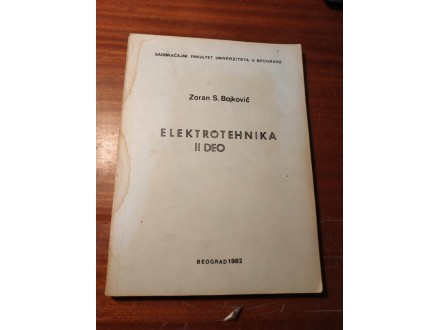 Elektrotehnika II Zoran Bojković