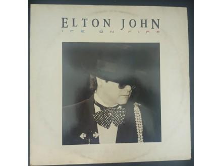 Elton John - Ice On Fire LP (Germany,1985)