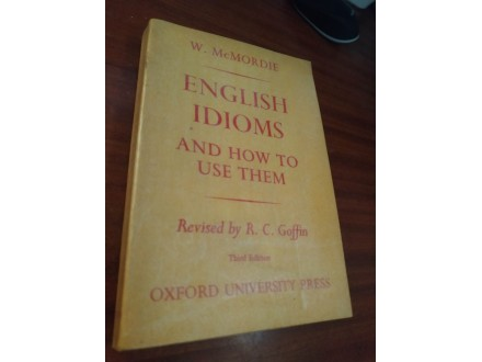 English idioms W . McMordie