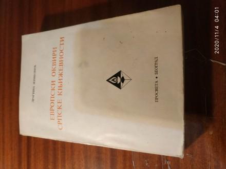 Evropski okviri srpske književnosti Živković