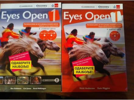 Eyes Open 1 Engleski Klett NOVO kniga + radna