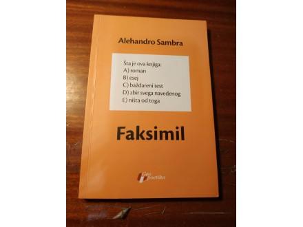 FAKSIMIL - Alehandro Sambra