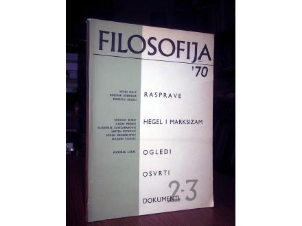 FILOSOFIJA (2-3/1970): Hegel i marksizam