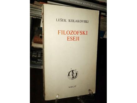 FILOZOFSKI ESEJI - Lešek Kolakovski