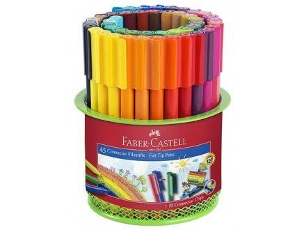Faber-Castell Connector - 45 Markers in Mesh Pot - Faber-Castell