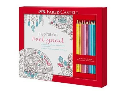 Faber-Castell Feel Good Colouring Set - 8 Colour Grip Pencils - Faber-Castell