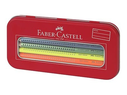 Faber-Castell Set - Jumbo Grip, Neon + Metallic - Faber-Castell
