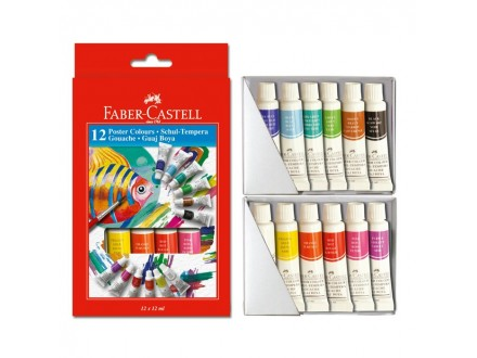 Faber Castell Tempere 12x12ml 121015