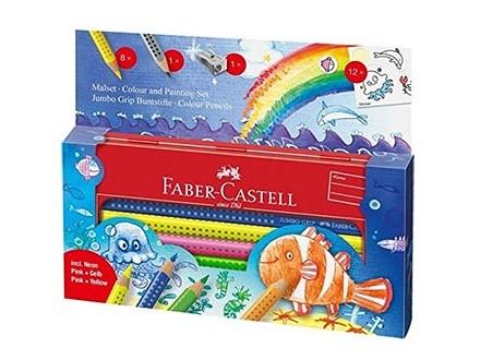 Faber-Castell Underwater World Set - 8 Colour, Jumbo, Grip - Faber-Castell