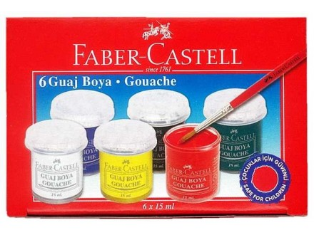 Faber Castell tempere 6x15ml 160400