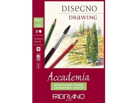 Fabriano Accademia Disegno - A3 blok za crtanje, 200 gr/30 listova