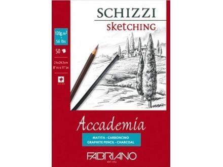 Fabriano Accademia Schizzi - A3 blok za senčenje, 120 gr/50 listova
