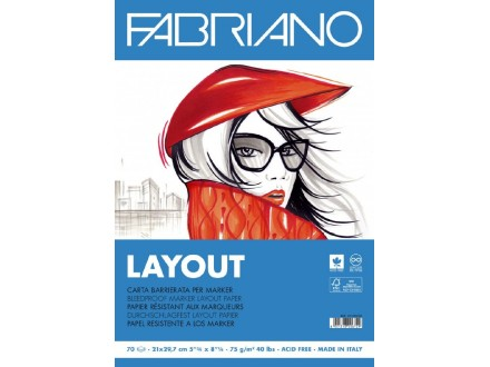Fabriano Layout 75g 29.7x42/70L 19100506