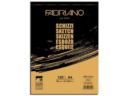Fabriano Schizzi blok A4/90 gr, 120 listova