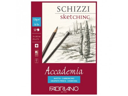 Fabriano sketching 120g 21x29.7/50L 41122129