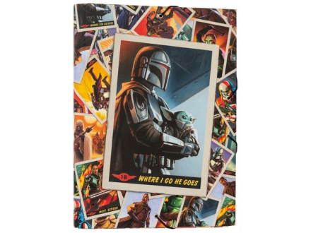 Fascikla A4 - lastiš, SW The Mandalorian, Where I go - Star Wars