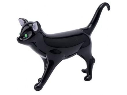 Figura - Glass Black Cat