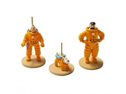 Figura - Tintin, Haddock and Snowy, Cosmonaut - Tintin