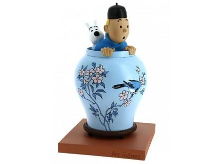 Figura - Tintin and Snowy, Chinese Vase - Tintin