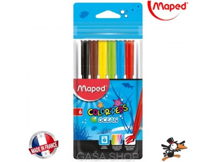 Flomasteri Maped Color Peps Ocean 1/6 845723 - Novo